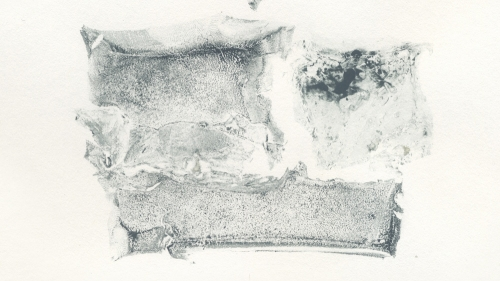 <em>Untitled, #93</em>, from series of 136 successive monoprints made with a single piece of gelatin